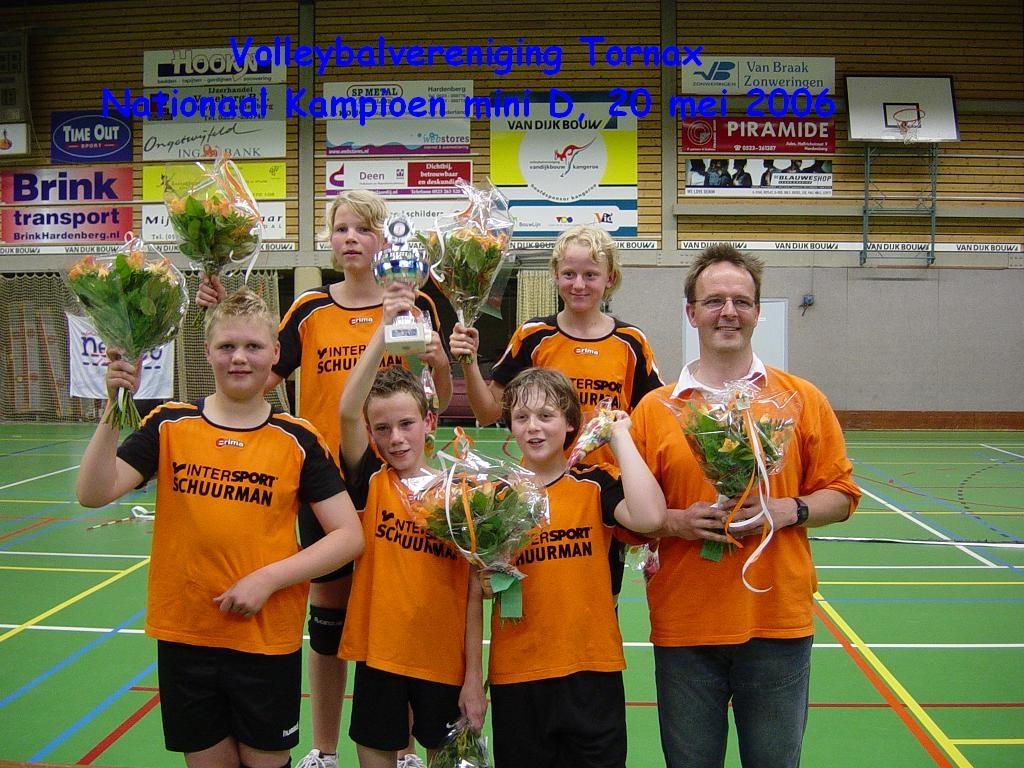 Mini's kampioen NK 2006 sporthal